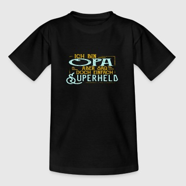 Superheld und OPA - Teenager T-Shirt