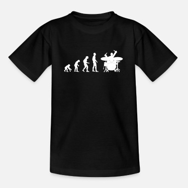 Drummer drummer evolution - Teenage T-Shirt