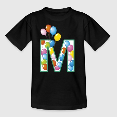 letter M ballonnen - Teenager T-shirt