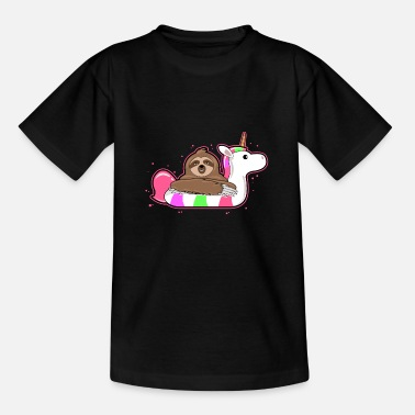 Divertidas Holiday Sloth Unicorn Swim Ring - Regalo - Camiseta adolescente