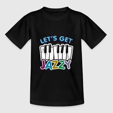 Contrabass Let's get Jazzy children's piano gift saying - Teenage T-Shirt