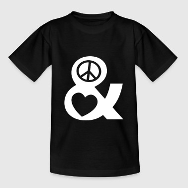 T-shirt retrò di Peace and Love Love and Peace - Maglietta per ragazzi