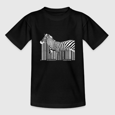 Barcode Zebra Zebra Barcode Party Gift Safari - Teenager T-shirt