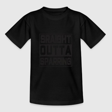 Sparring La conception du t-shirt sparring du combattant STARIGHT OUTTA SPARRING - T-shirt Ado