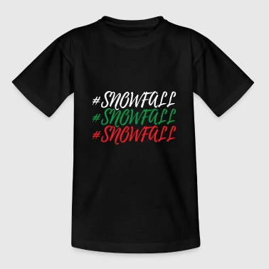 Schneefall - Teenager T-Shirt