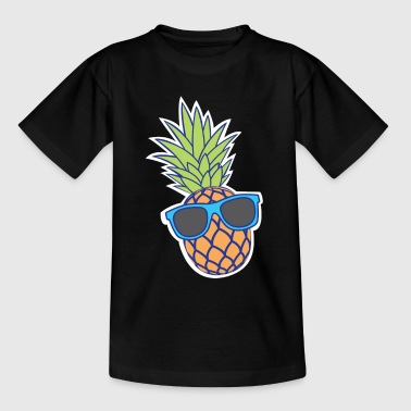 pineapple with sunglasses - Teenage T-Shirt