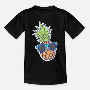 Sunglasses pineapple with sunglasses - Teenage T-Shirt
