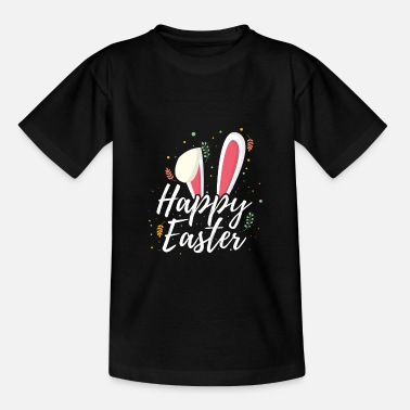 Happy Easter Happy easter bunny floppy ears gift - Teenage T-Shirt
