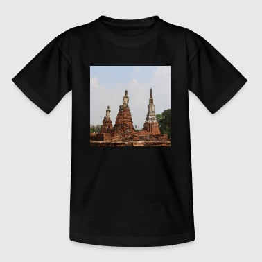 Bangkok Ayutthaya Thailand Monks ruins ancient - Teenage T-Shirt