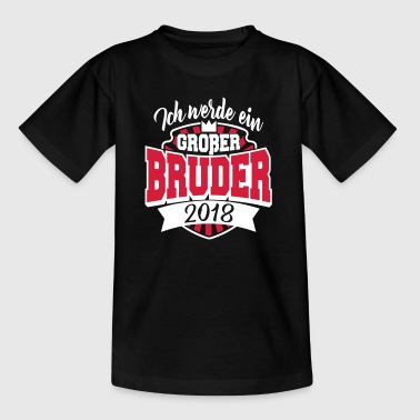 Jeg er en big brother 2018 - graviditet - Teenager-T-shirt