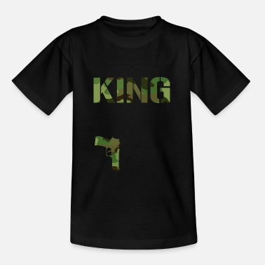King Queen king CAMOUFLAGE PISTOLE Paar-Liebe King Queen - Teenager T-Shirt