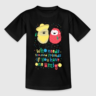 Amigos - best friends amigos - beste vrienden - Teenager T-shirt