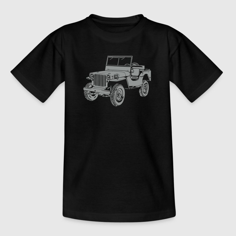 Jeep Willys Overland Offroad 4x4 T-Shirt - Teenage T-shirt