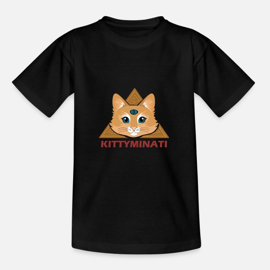 Cats And Dogs Collection T-shirts - Kittyminati - T-shirt Ado noir