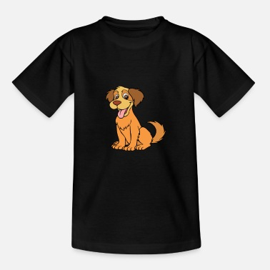 Childrens Drawing Dog children drawing - Teenage T-Shirt