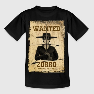 Zorro The Chronicles Wanted Poster - Camiseta adolescente