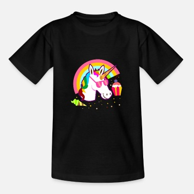 Cool Cool unicorn with sunglasses and ice - Teenage T-Shirt