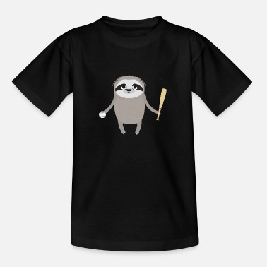 Cool Baseball Sloth - Teenager-T-shirt