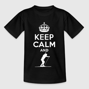 Keep Calm - Skifahren - Teenager T-Shirt