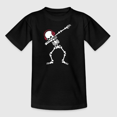 Skelton Dab Dabben Headphones Music - Teenager T-Shirt