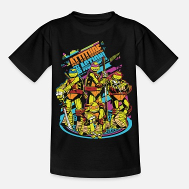 TMNT Turtles Attitude For Action - Maglietta per teenager