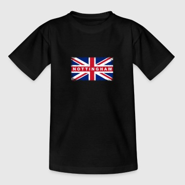Nottingham Shirt Vintage United Kingdom Flag - Teenage T-Shirt