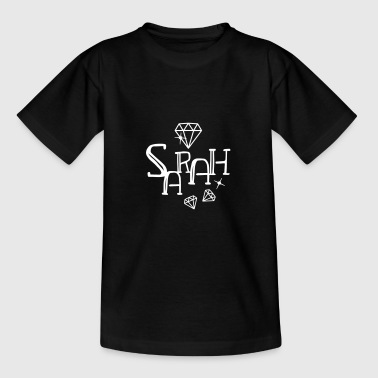 Name Sarah Vorname mit Diamanten - Teenager T-Shirt