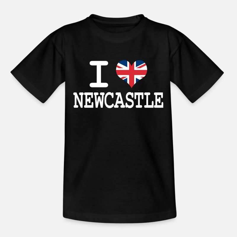Newcastle T-Shirts - i love Newcastle - Teenage T-Shirt black