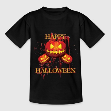 halloween - scary shirt with pumpkin - Happy - Teenage T-Shirt