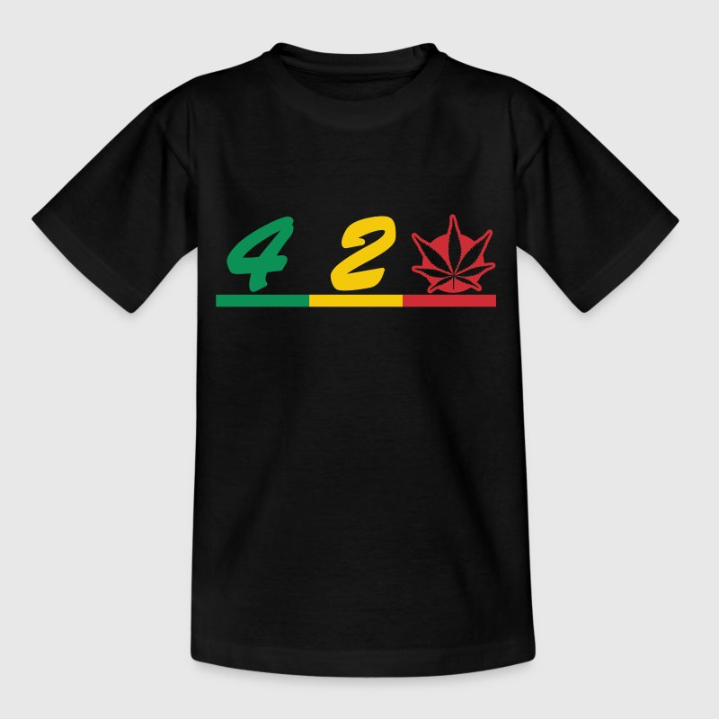 420 smokers love - Teenage T-shirt