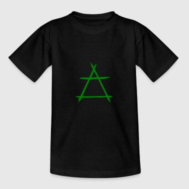 Alchemie pictogram lucht groen - Teenager T-shirt