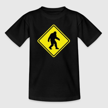 Bigfoot Crossing Funny Sasquatch Believer Regalo - Camiseta adolescente