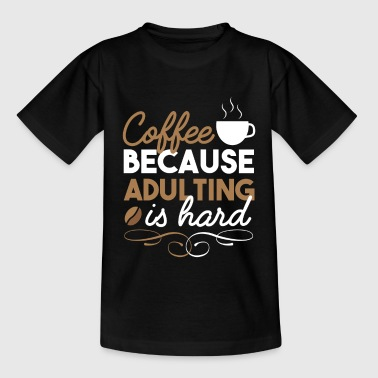 Cafe Coffee Bean Coffee - Coffee Bean Drinking Cafe Gift - Teenage T-Shirt
