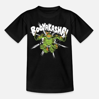 TMNT Turtles Michelangelo Booyakasha - Maglietta per teenager