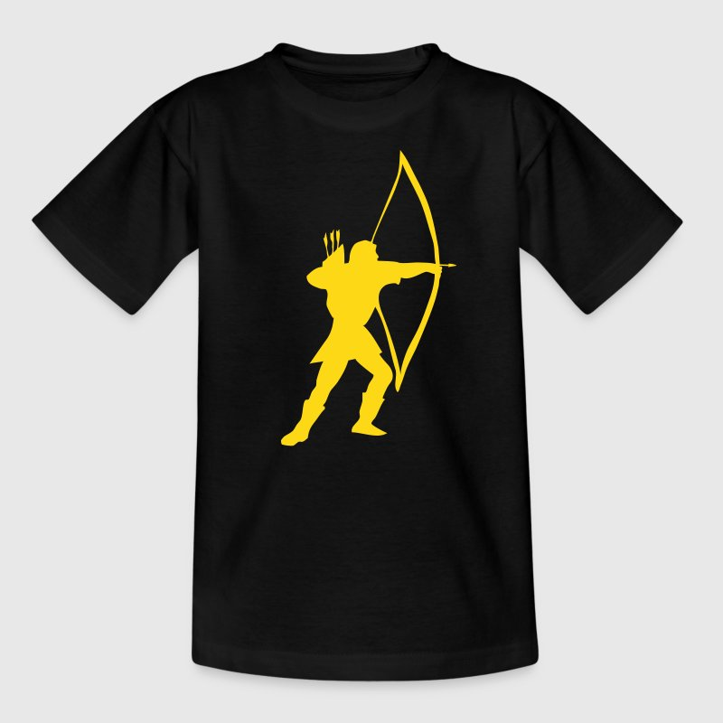 longbow archer medieval  - Teenage T-shirt