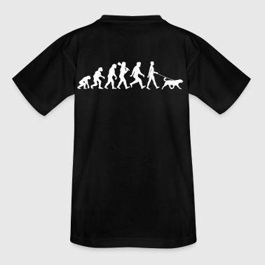 Evolution with dog - Teenager T-shirt