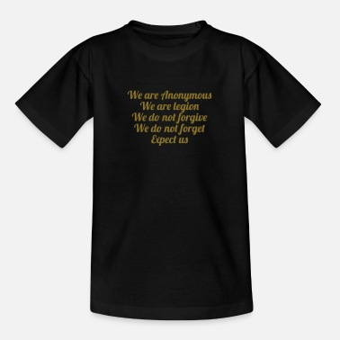 Anonymous Anonymous - Teenage T-Shirt