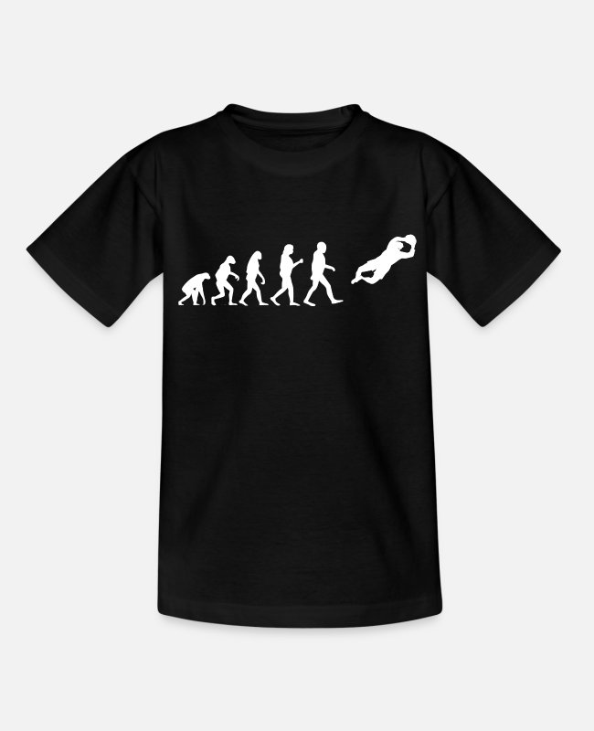 Evolution Goalkeeper T-Shirts - Goalkeeper Evolution Soccer Goalkeeper Soccer Player - Teenage T-Shirt black