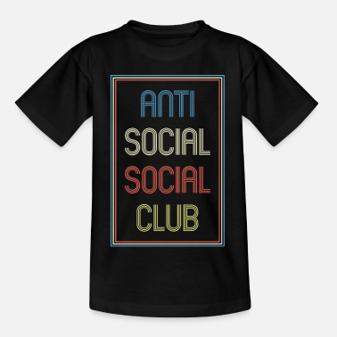Social Anti Social Social Club Retro 80s Retro Look - T-shirt tonåring