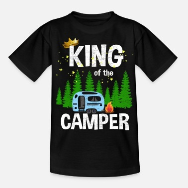 Camping King of the camper - Teenager T-Shirt