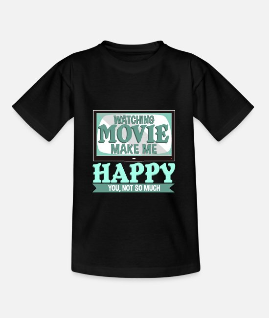 Hollywood T-Shirts - Kino Filme Television Hollywood Geschenk - Teenager T-Shirt Schwarz