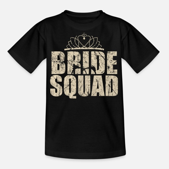 Bride T-Shirts - hen - Teenage T-Shirt black