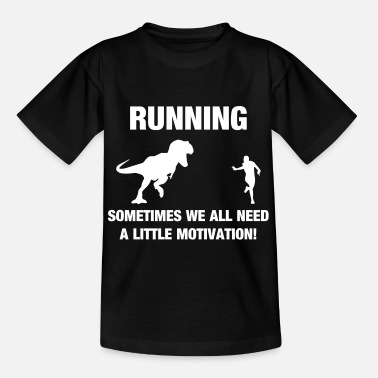 Funny Race T-Rex Motivation Funny Running Sport - Teenage T-Shirt