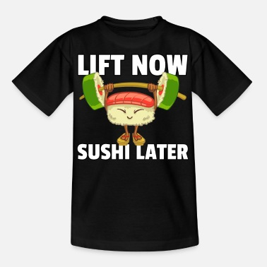 Japanese Sushi Sport Fitness Athlete Maki Gym - Teenage T-Shirt