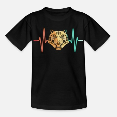 Indochinese Tiger big cat predator heartbeat - Teenage T-Shirt
