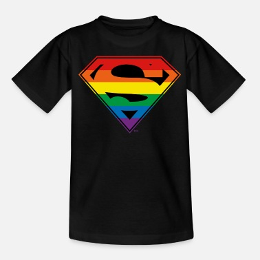 Justice League Logo arc-en-ciel Superman - T-shirt Ado