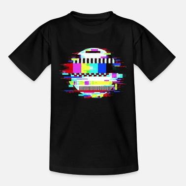 TV No Signal Monoscope Image Retro Glitch Effect - Teenage T-Shirt