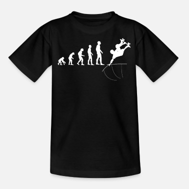 Competition Skateboarder Trick Half Pipe Evolution Gift - Teenage T-Shirt