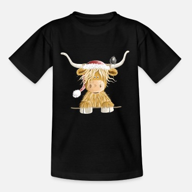 Cow Scottish Highland Cattle Christmas Gift - Teenage T-Shirt