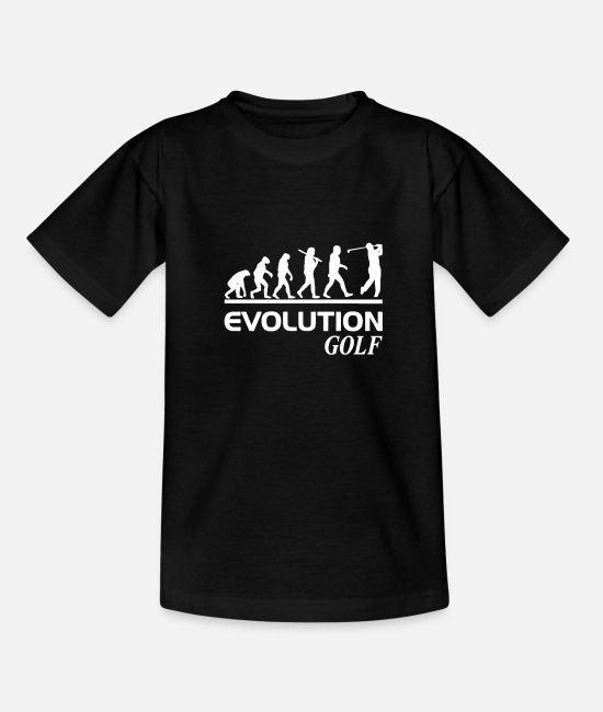 Christmas T-Shirts - Evolution golf - Teenage T-Shirt black